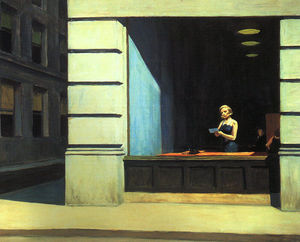 Edward Hopper - a New York ufficio