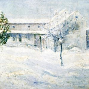 John Henry Twachtman - Old Holley House, Cos Cob