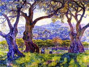 Theo Van Rysselberghe - Olivi vicino a Nizza (noto anche come Oliviers aux environs de Nice)