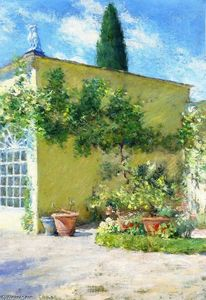 William Merritt Chase - Orangerie del Case Villa a Firenze