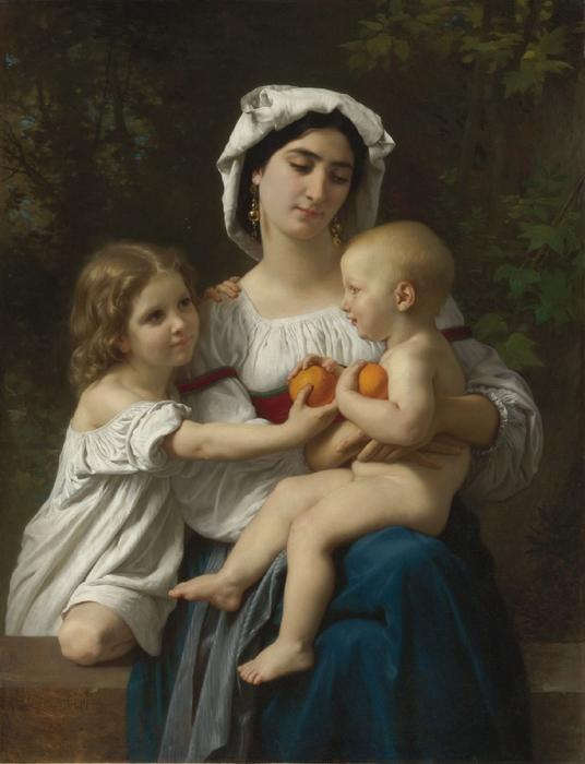The Oranges di William Adolphe Bouguereau (1825-1905, France)