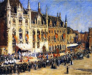 Colin Campbell Cooper - The Pageant a Bruges