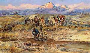 Charles Marion Russell - Pay Dirt (noto anche come The Discovery of Last Chance Gulch)