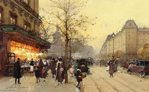 Eugene Galien Laloue - Place de la Republique