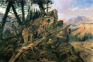 Charles Marion Russell - Plunder all orizzonte (noto anche come Indiani Scoprite Prospectors)