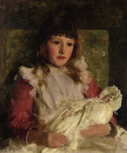 Henry Scott Tuke - Ritratto studio di molly dalyrmple