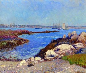 William James Glackens - Portsmouth Porto , nel new hampshire
