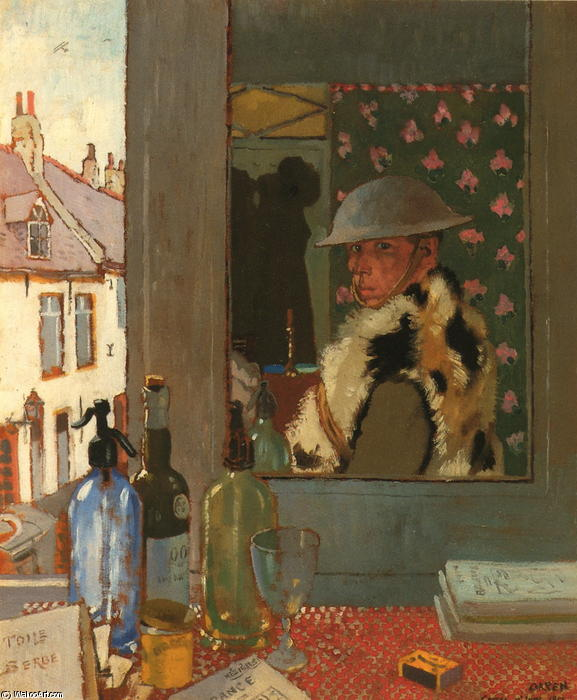 Pronto per iniziare, 1917 di William Newenham Montague Orpen (1878-1931, Ireland)