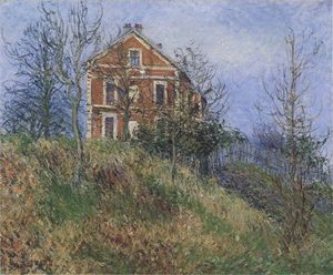 Gustave Loiseau - rosso casa vicino a port Marly