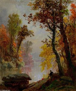 Jasper Francis Cropsey - Riposo by the Riverside