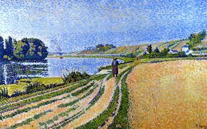 Paul Signac - The Riverbank, Herblay, Opus 204