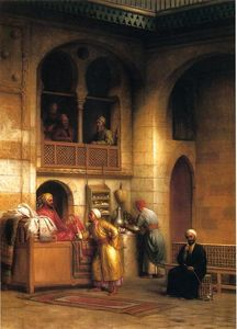George Henry Hall - Tappeto Bazaar, Cairo