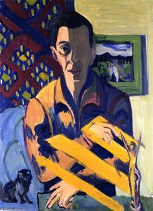 Ernst Ludwig Kirchner - autoritratto