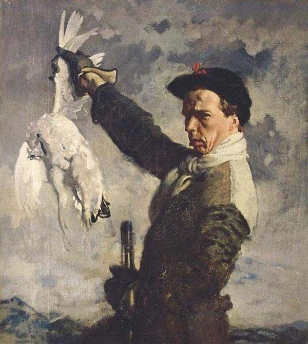 autoritratto Antartico  guasto  Pernice bianca  di William Newenham Montague Orpen (1878-1931, Ireland)