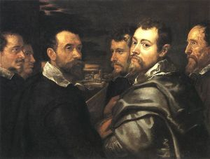 Peter Paul Rubens - Self-Portrait in un Circle of Amici da Mantua