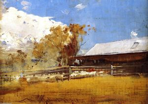 Thomas William Roberts - Shearing Shed, Newstead