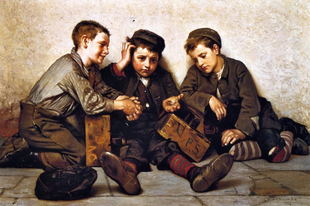 Breve, 1884 di John George Brown (1831-1913, United Kingdom) | WahooArt.com