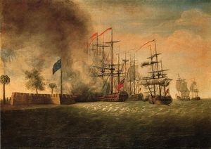 James Peale - Attacco di Sir Peter Parker contro Fort Moultrie