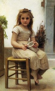 William Adolphe Bouguereau - Lo Snack (noto anche come Le Gouter)
