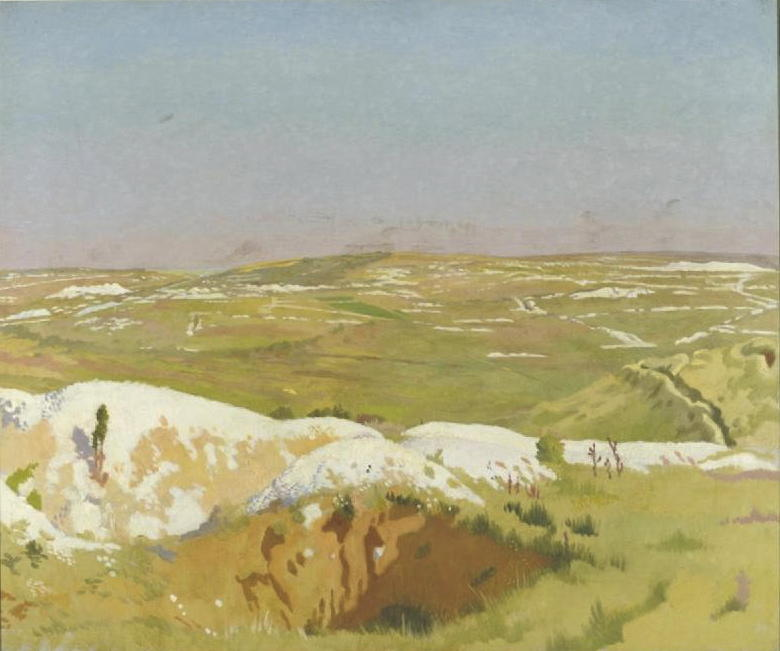 la somme : un chiaro Giorno, 1917 di William Newenham Montague Orpen (1878-1931, Ireland)