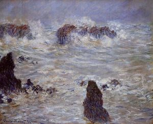 Claude Monet - tempesta off il belle- `ile` costa