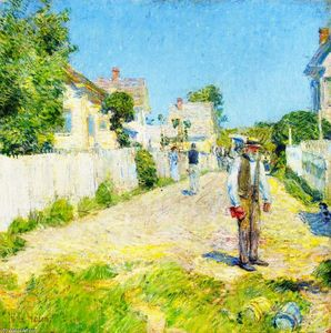 Frederick Childe Hassam - Street a Gloucester