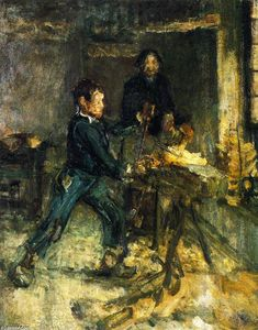 Henry Ossawa Tanner - Studio per The Young Sabot Maker