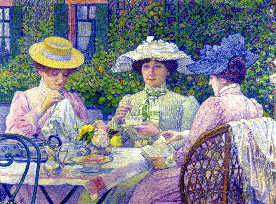 Summer Afternoon (noto anche come Apres-Midi d ete), 1900 di Theo Van Rysselberghe (1862-1926, Belgium) | WahooArt.com
