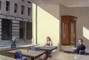 Edward Hopper - La luce del sole in Un  caffetteria
