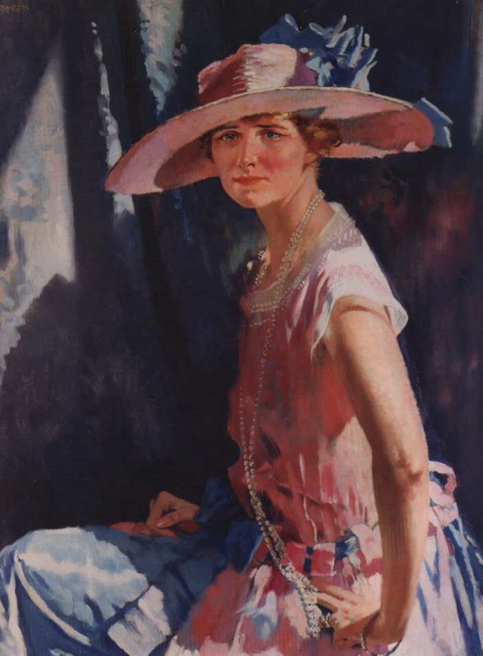Susan Vanderpoel Clark, 1921 di William Newenham Montague Orpen (1878-1931, Ireland) | Riproduzione Art | WahooArt.com