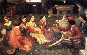 John William Waterhouse - Un racconto dal decameron