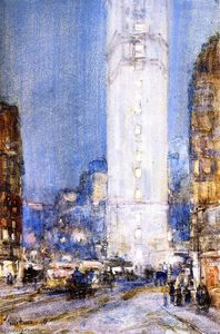 Frederick Childe Hassam - Times Square