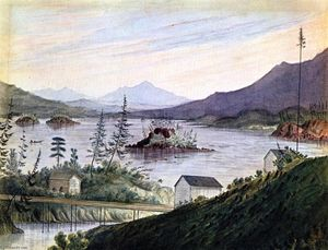 James Madison Alden - Alta Cacades, Guardare in su Columbia River