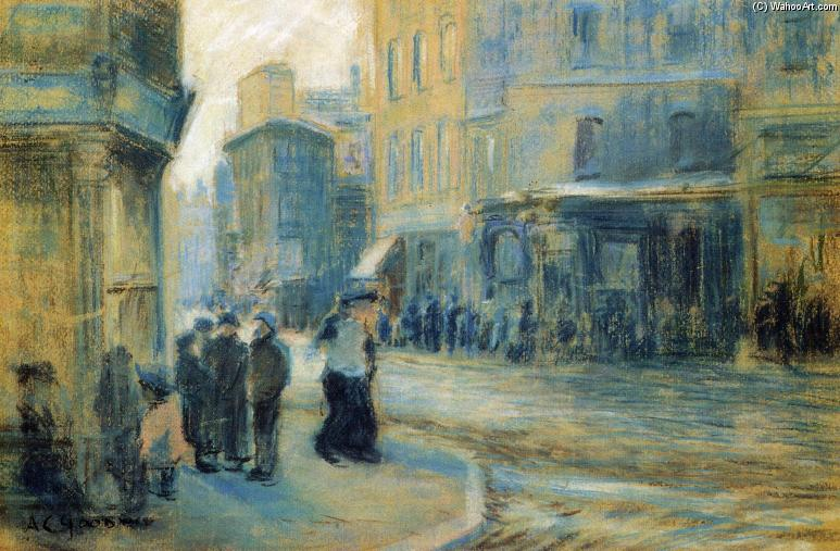 Up Tremont Street, disegno di Arthur Clifton Goodwin (1864-1929, United States)