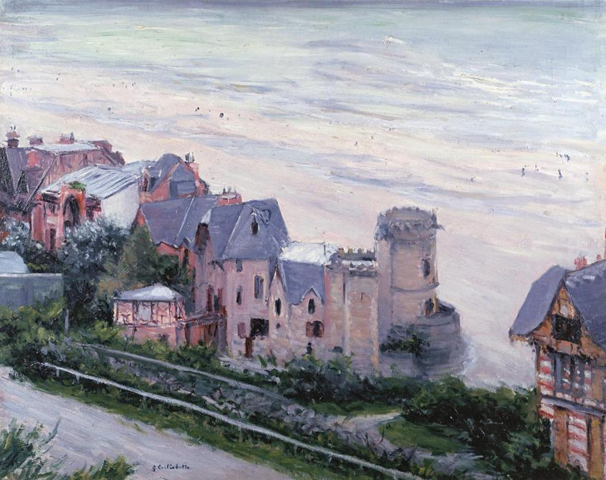 Villas at Trouville, pittura di Gustave Caillebotte (1848-1894, France)