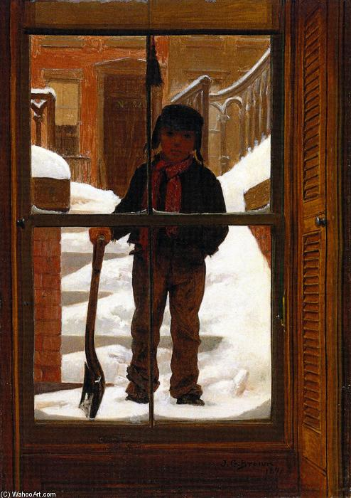 in attesa di un Giobbe, 1871 di John George Brown (1831-1913, United Kingdom) | WahooArt.com