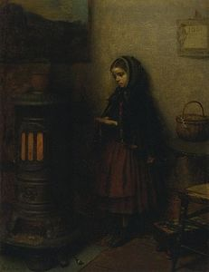 Jonathan Eastman Johnson - Riscaldamento sue mani