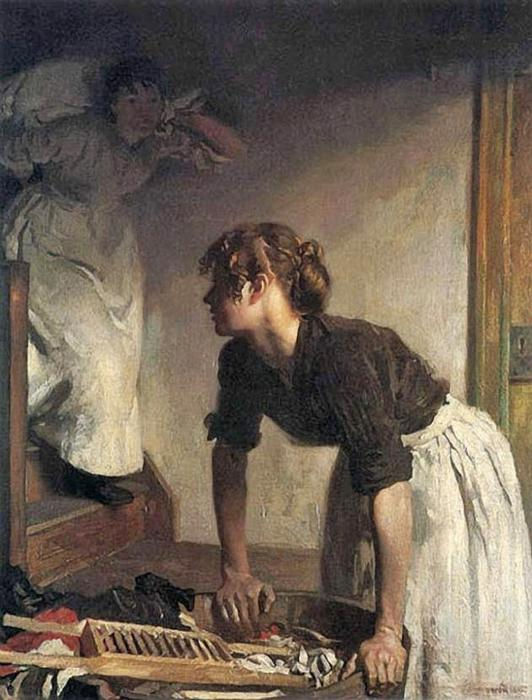 Il Wash Casa di William Newenham Montague Orpen (1878-1931, Ireland)