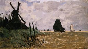 Claude Monet - Windmill vicino a Zaandam