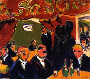 Ernst Ludwig Kirchner - Wine Bar (noto anche come enoteca)
