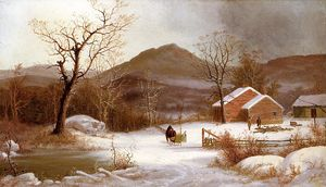 George Henry Durrie - paesaggio invernale