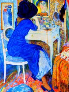 Leo Gestel - Woman at Table Trucco (noto anche come Lisette a Toilette)