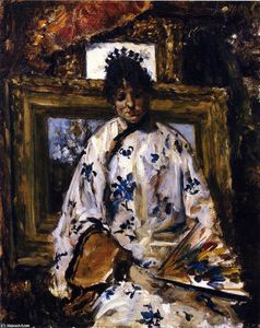 William Merritt Chase - donna in un cinese  accappatoio