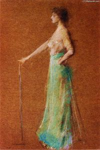 Thomas Wilmer Dewing - donna in piedi