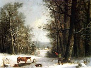 George Henry Durrie - Woodsman in inverno