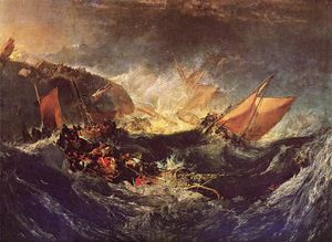 William Turner - il `wreck` di un transporto nave