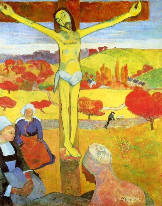 giallo cristo, olio su tela di Paul Gauguin (1848-1903, France)