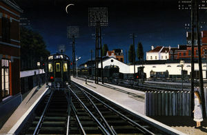 Paul Delvaux - Treno in serata