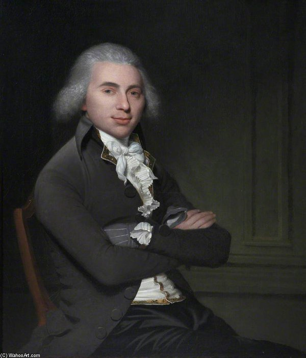 Lieutenant-colonel william troughton in civile Vestito di Arthur William Devis (1712-1787, United Kingdom) | Riproduzione Art | WahooArt.com