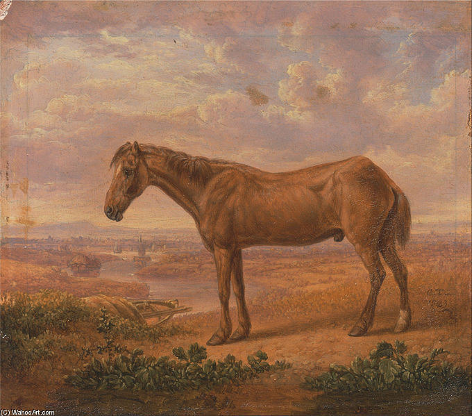 Old Billy, A Draught Horse, invecchiato - (62) di Charles Towne (1763-1854, United Kingdom)